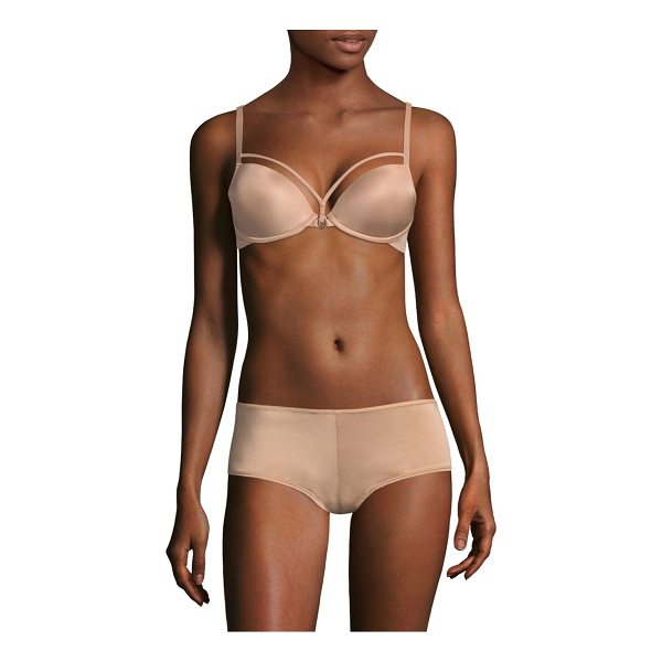 MARLIES DEKKERS space padded push-up bra - From the Signature Collection. Strap detail adds contoured...