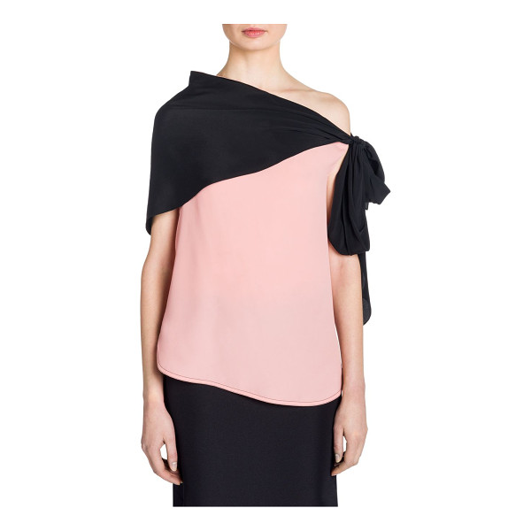 MARNI silk off-the-shoulder blouse - Shoulder-baring blouse with attached scarf....