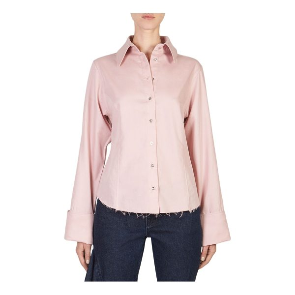 MARQUES ALMEIDA frayed button-front shirt - Casual button-front cotton shirt featuring frayed hem...