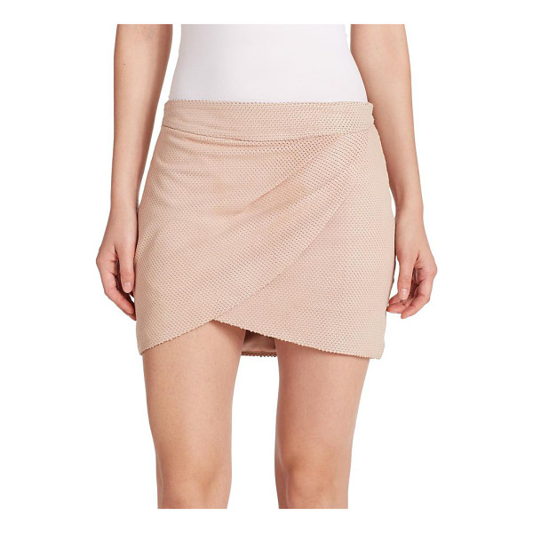 MASON BY MICHELLE MASON Draped silk mini skirt - A draped, front wrap design perfectly compliments the airy...