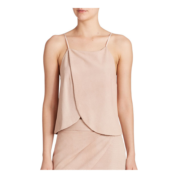 MASON BY MICHELLE MASON Wrap leather tank top - With a swingy front panel, an allover textured feel and a...