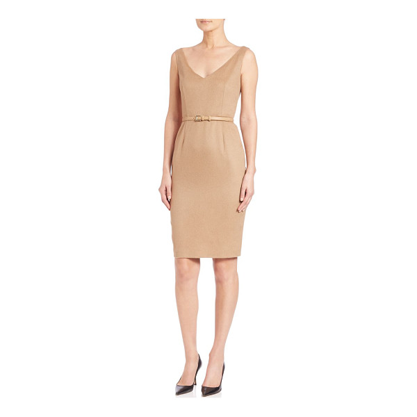 MAX MARA Alarico belted camelhair sheath - Soft camel hair elevates this classic...