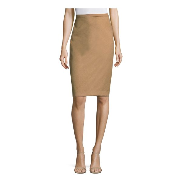 MAX MARA bill camel hair skirt - Fitted pencil skirt crafted in luxe camel hair. Concealed...