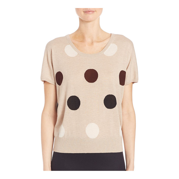 MAX MARA deruta polka dot pullover - Graphic polka dots add whimsy to easy knit top. Scoopneck....