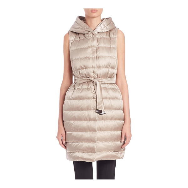 MAX MARA Cube collection gileta hooded puffer vest - From the Cube collectionLustrous puffer vest with attached...