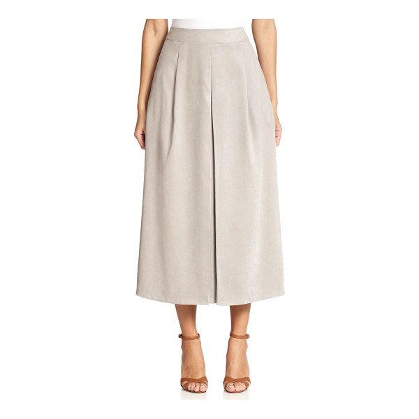 MAX MARA Giove faux suede midi skirt - An elegant midi silhouette in velvety faux-suede, shaped by...
