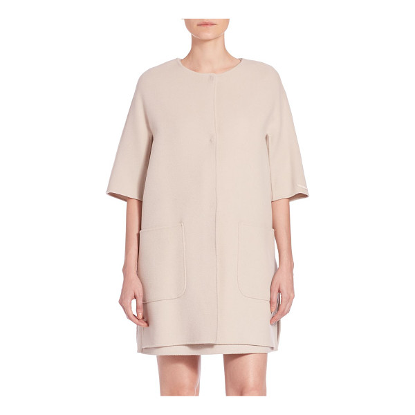 MAX MARA Jeff three quarter-sleeve short coat - With its relaxed silhouette and meticulous tailoring, this...