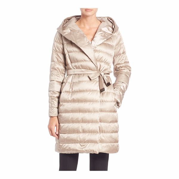 MAX MARA Cube collection novef hooded puffer coat - From the Cube collectionGlossy, hooded puffer with easy...