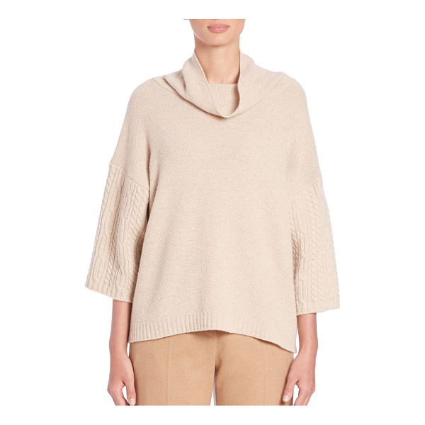 MAX MARA Ocra funnel neck cable knit sweater - A luxurious blend of virgin wool and cashmere combine to...