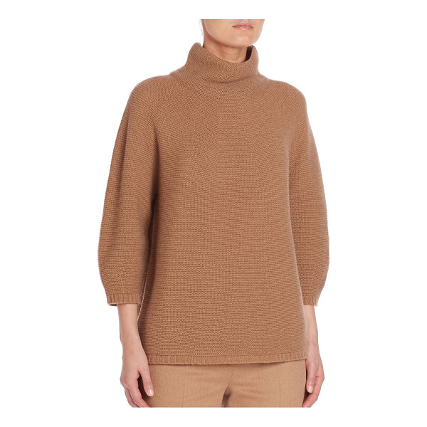 MAX MARA ovale short mock neck sweater - Classic solid sweater crafted from plush wool. High-neck....