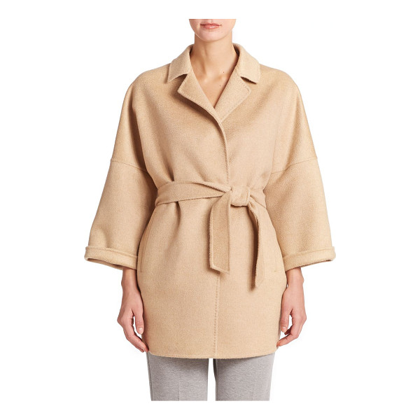 MAX MARA Ravello cashmere wrap jacket - Luxury in a relaxed form, woven of pure Italian cashmere...