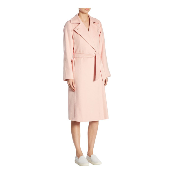 MAX MARA soldato belted wrap coat - This trendy wrap coat with self-tie waist exudes...