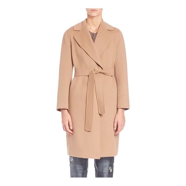 MAX MARA tanaro doppio short coat - Polished tailoring with a casual belted waist. Notch...