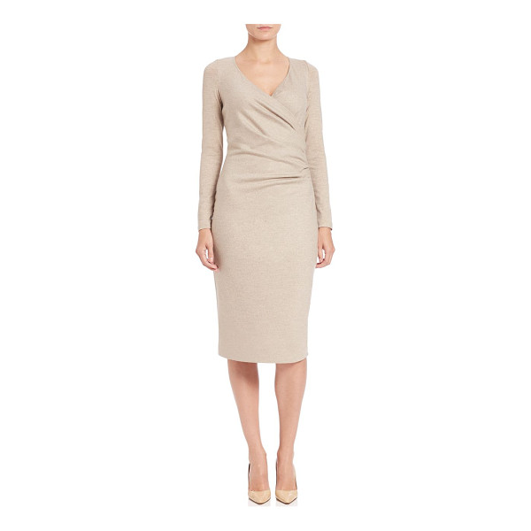 MAX MARA Teso wrap-front sheath - A ruched bodice enhances the form-flattering silhouette of...