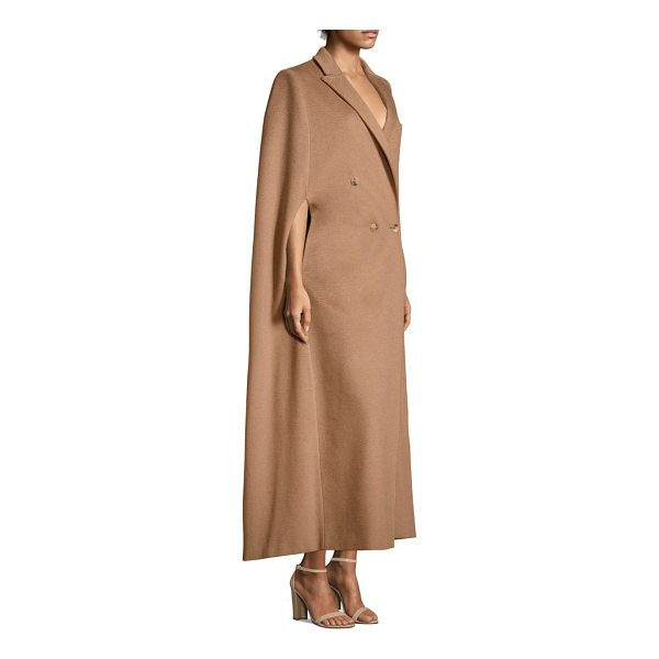 MAX MARA verdun camel hair cape - Tailored camel hair cape coat in button-front design....