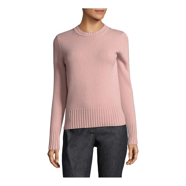 MAX MARA virgin cashmere sweater - Soft cashmere sweater with ribbed knit trim. Crewneck. Long...