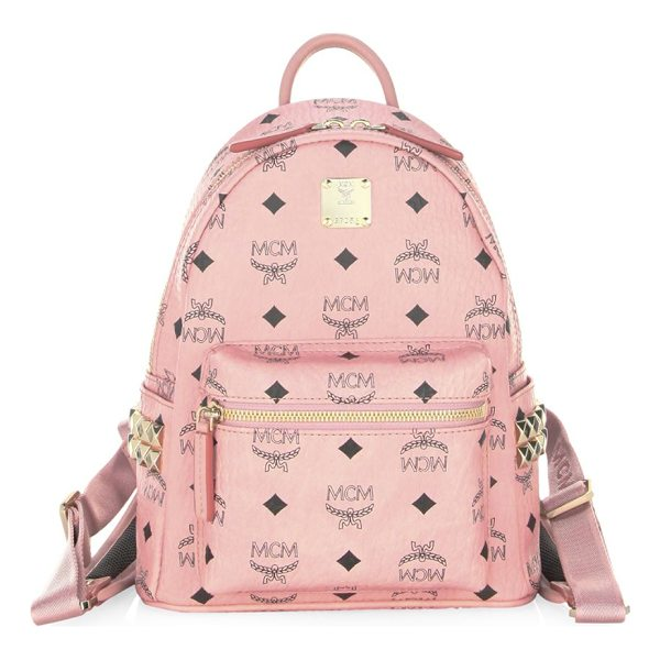 MCM leather backpack - Graphic print and embellishments update this leather...