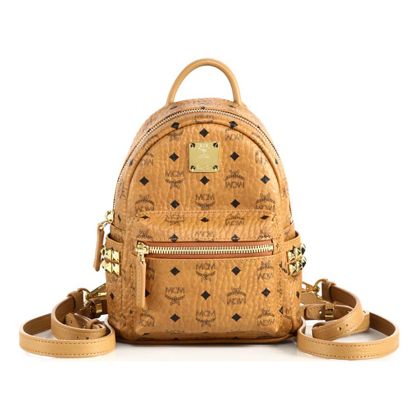 MCM Stark x-mini coated canvas backpack - Cast in signature logo-print coated canvas with edgy...