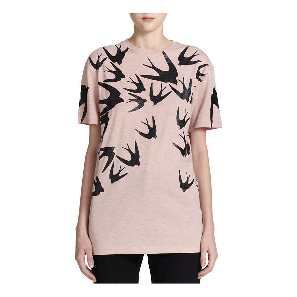 MCQ BY ALEXANDER MCQUEEN Swallow boyfriend tee - There's no need to steal his tee, thanks to this cotton...