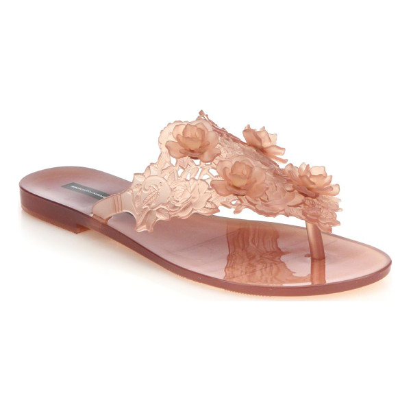 MELISSA By alexandre herchovitch harmonic floral thong sandals - Seasonal esssential with a statuesque floral designPVC...