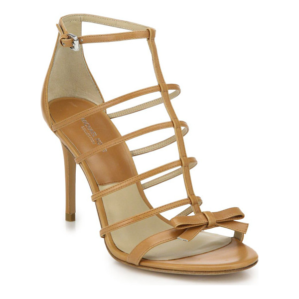 MICHAEL KORS Blythe caged leather bow sandals - A dainty bow adorns this delicate take on the cage...