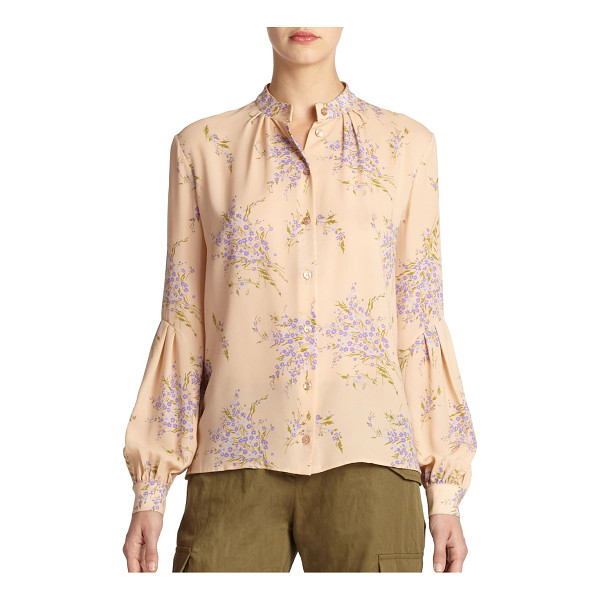 MICHAEL KORS Bouquet floral silk blouse - Scattered bouquets elevate the romantic allure of this...