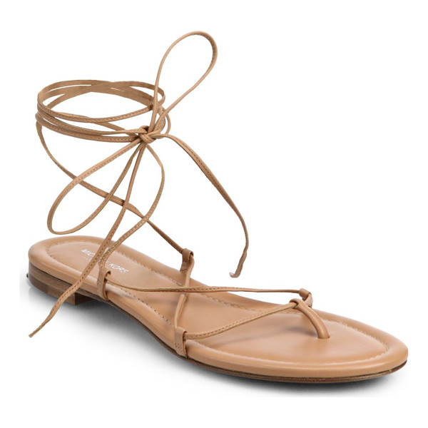 MICHAEL KORS Bradshaw lace-up leather sandals - Crafted in rich, Italian leather, delicate laces artfully...