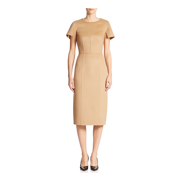 MICHAEL KORS Brushed wool-blend sheath - Woven with angora for a soft finish, this brushed wool...