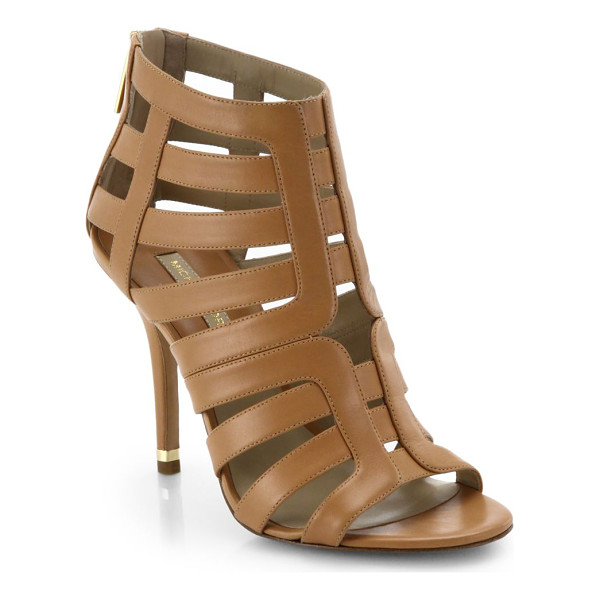 MICHAEL KORS Caleb leather cage sandals - Crafted in supple leather, these cage sandals are elevated...