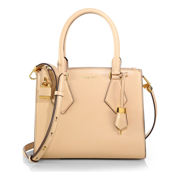 MICHAEL KORS Casey small satchel - Crisply structured in smooth leather, this sleek satchel...