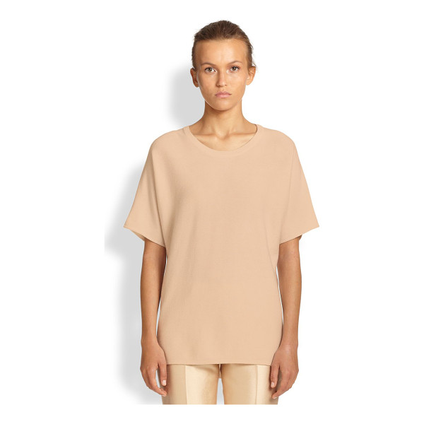 MICHAEL KORS Cashmere dolman-sleeve tee - A luxe take on a wardrobe classic, crafted from luxuriously...