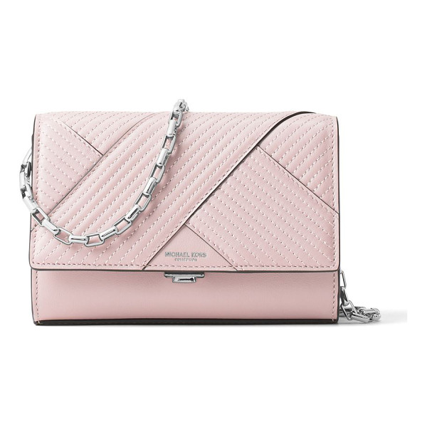MICHAEL KORS COLLECTION chevron quilted leather crossbody - Chevron quilting adds style to petite crossbody. Removable...