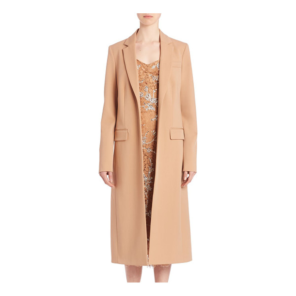 MICHAEL KORS COLLECTION Long bonded wool coat - Easy, tailored overcoat adds style to any look. Notch...