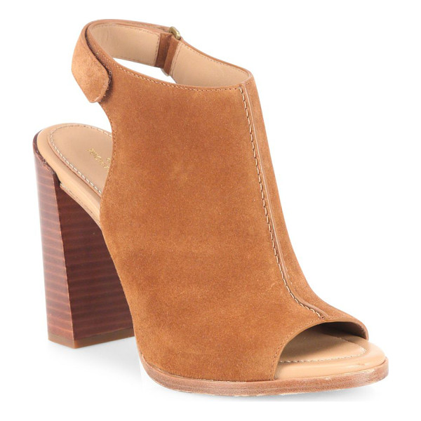 MICHAEL KORS COLLECTION maeve suede block heel slingback sandals - Boho-chic suede slingbacks set on stacked block heel.