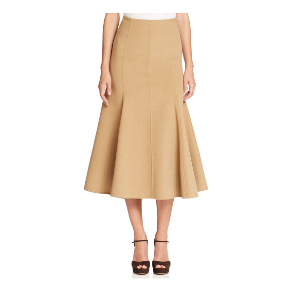 MICHAEL KORS COLLECTION Melton flutter midi skirt - Crafted from a plush blend of wool, angora and cashmere,...