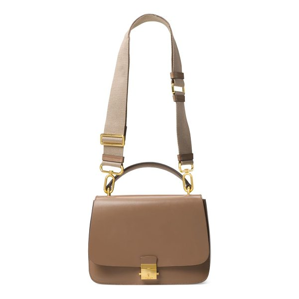 MICHAEL KORS COLLECTION mia leather top handle shoulder bag - Sophisticated leather bag with convenient top handle. Top...