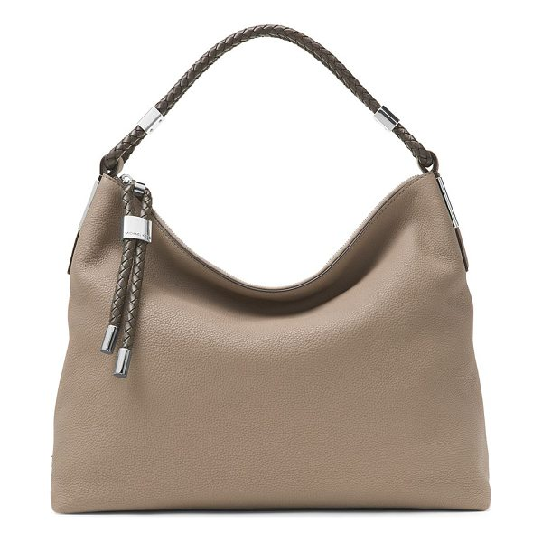 MICHAEL KORS COLLECTION skorpios leather hobo bag - Braided leather handle tops slouchy shoulder bag. Top...