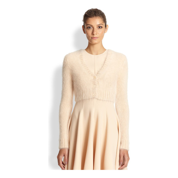MICHAEL KORS Cropped angora cardigan - Plush, touchably soft angora shapes this cropped layering...