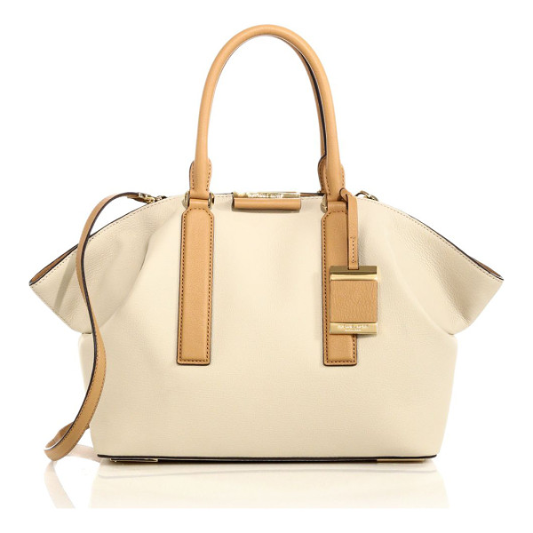 """MICHAEL KORS Lexi large two-tone leather satchel - ketsFully lined12.5""""W X 11""""H X 5.5""""DLeatherImported"""