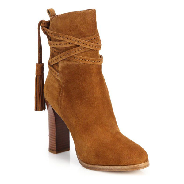 MICHAEL KORS Palmer suede tassel ankle boots - These ankle boots in rich, supple suede boast certain...