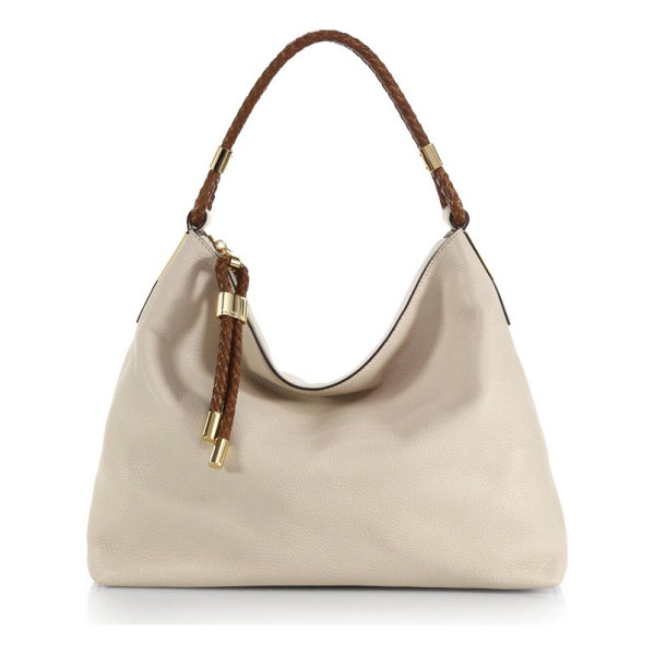 MICHAEL KORS Skorpios medium hobo bag - Radiant goldtone hardware and rich woven trim elevate a...