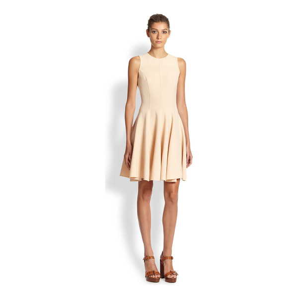 MICHAEL KORS Stretch wool flared dress - Precise tailoring shapes this feminine, flared silhouette,...