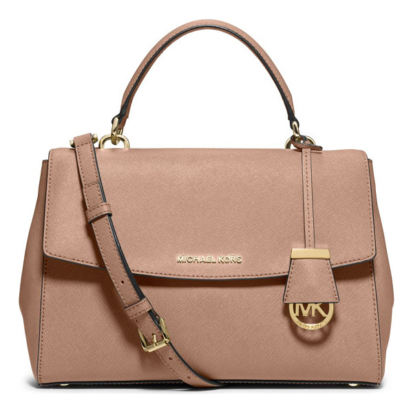 MICHAEL MICHAEL KORS Ava large saffiano leather satchel - As roomy and beautifully designed as it is city-chic, this...