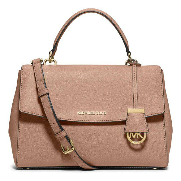 MICHAEL MICHAEL KORS Ava saffiano leather satchel - As roomy and beautifully designed as it is city-chic, this...