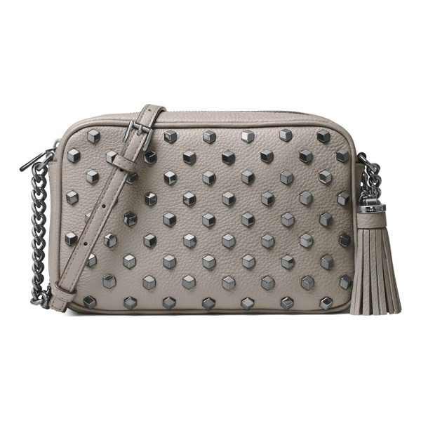 MICHAEL MICHAEL KORS ginny stud leather crossbody bag - Features allover studs and a tassel detail. Chain and...