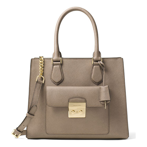 MICHAEL MICHAEL KORS medium crosshatch leather tote - Spacious tote bag crafted from crosshatch leather. Dual top...