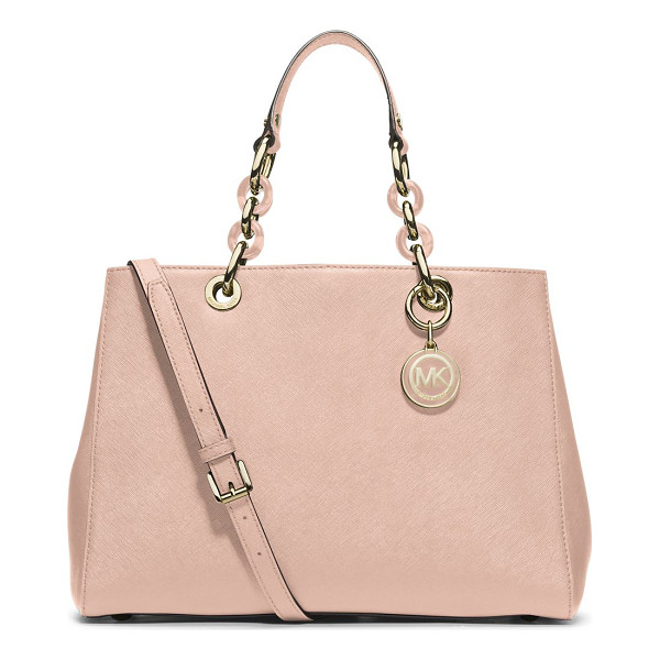 MICHAEL MICHAEL KORS Medium satchel - Structured and sophisticated in a versatile hue, featuring...