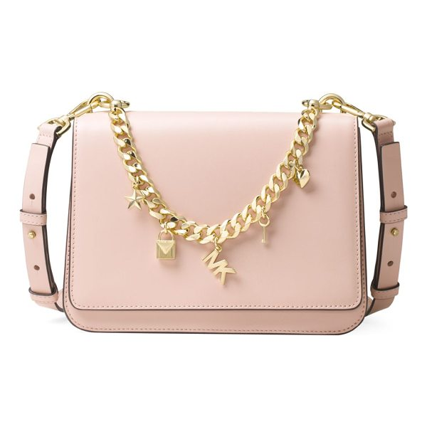 MICHAEL MICHAEL KORS metallic charm leather shoulder bag - Swag shoulder bag featuring logo chained appliques....