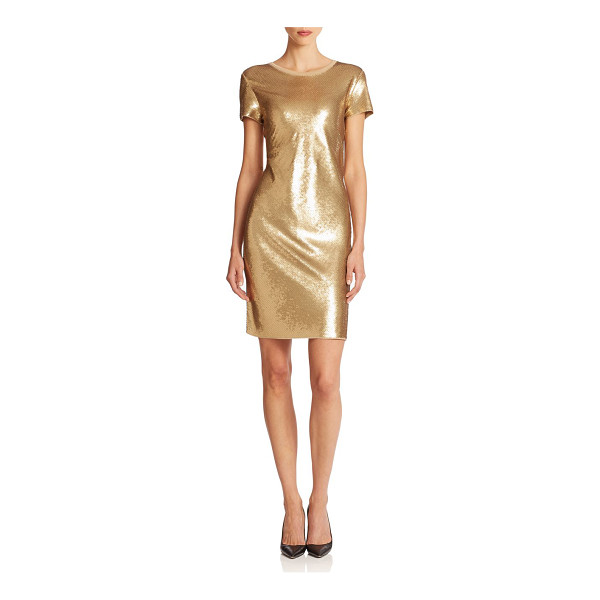 MICHAEL MICHAEL KORS Metallic sequined shift dress - A simple silhouette showcases a glamorous sequined design...