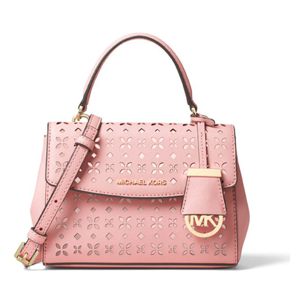 "MICHAEL MICHAEL KORS Perforated leather crossbody - Ladylike satchel in pretty perforated leatherTop handle, 5""..."